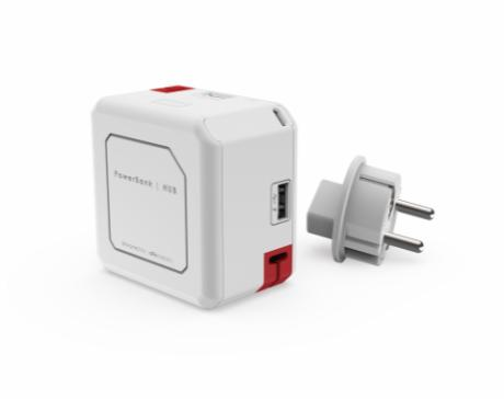 PowerCube opladeHUB m/4 USB og powerbank