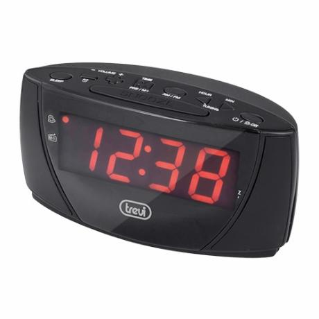 Clockradio m/ FM radio, m/ stort LED display, sort