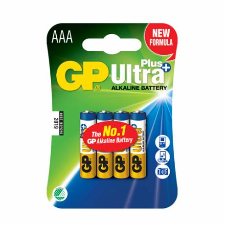 GP Ultra Plus+ Alkaline AAA/LR03 batteri 4-pak