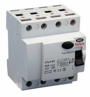 Safety HPFI 4P 6kA/30mA Type A 63A N-right